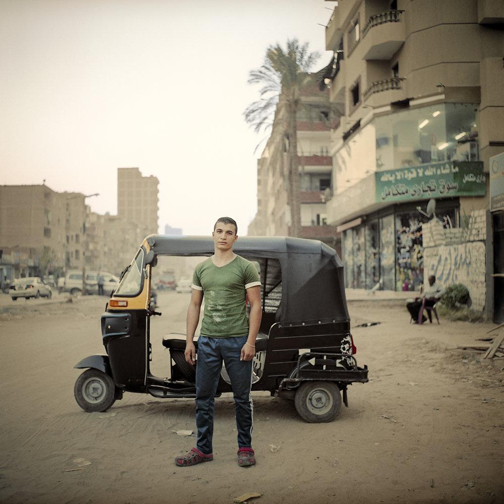 Les conducteurs de tuk-tuk du Caire